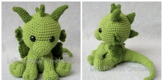 Lars the Dragon amigurumi pattern | Crochet toy pattern | lilleliis | 160x324