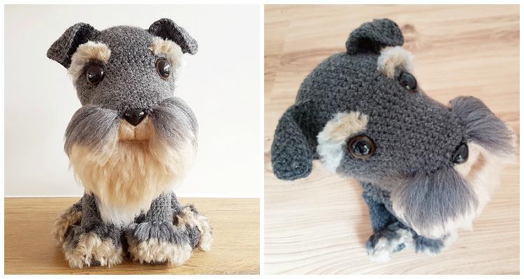 Dog Amigurumi Pattern - Brush Crochet - Ami Amour | 400x750