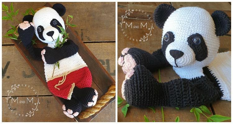 10 Free Crochet Panda Amigurumi Patterns ⋆ DIY Listy | 400x750