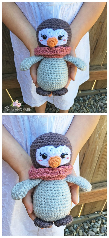 Mini Amigurumi Penguin Crochet Free Pattern - Crochet #Penguin;  #Amigurumi;  Ücretsiz Desenler
