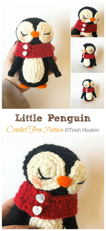 Amigurumi Little Penguin Crochet Free Pattern - Crochet #Penguin;  #Amigurumi;  Ücretsiz Desenler