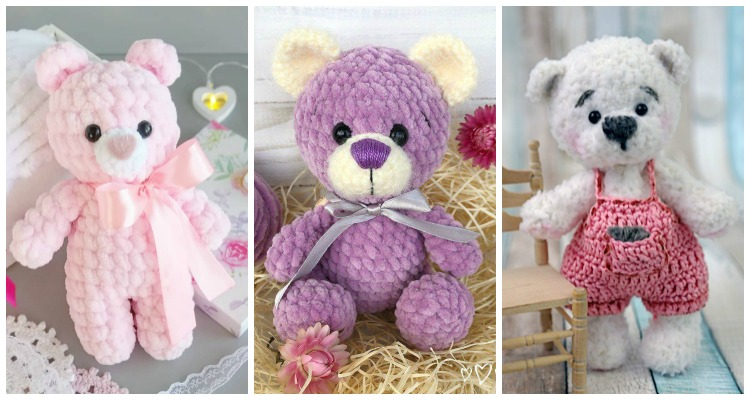 Lovely Teddy Bear Amigurumi - Tutorial #amigurumi #crochet ... | 400x750
