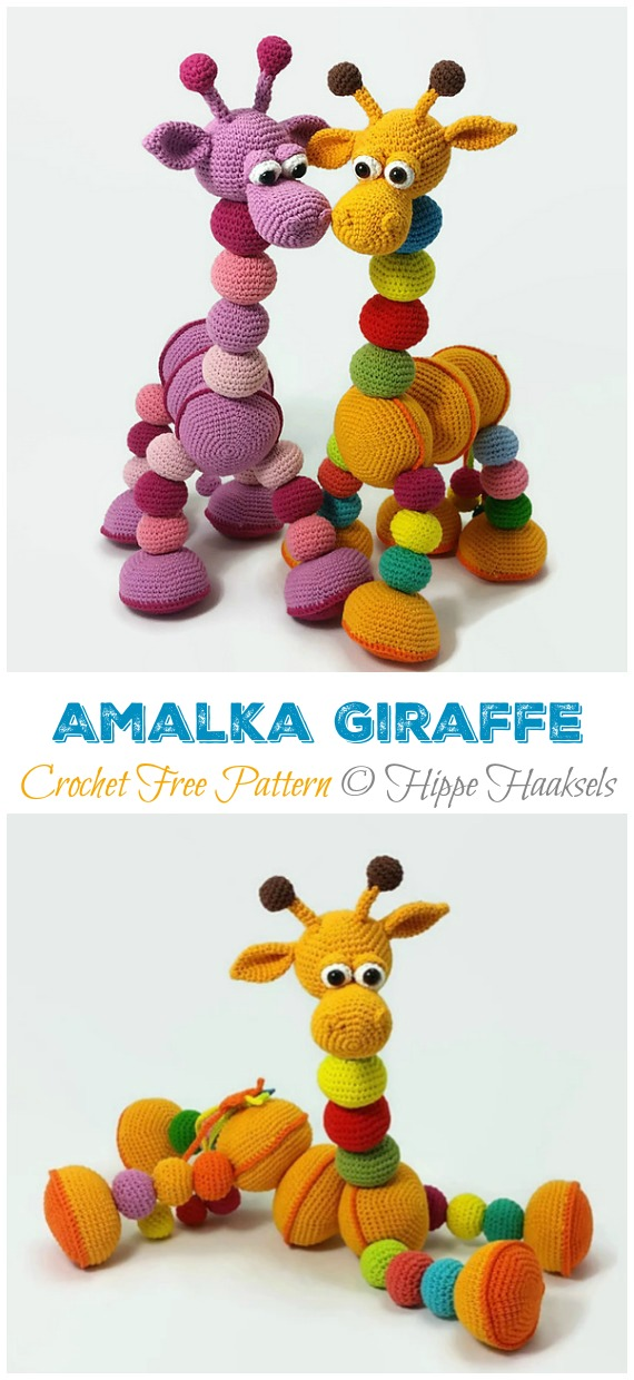 32 Free Crochet Giraffe Amigurumi Patterns ⋆ DIY Crafts | 1240x570
