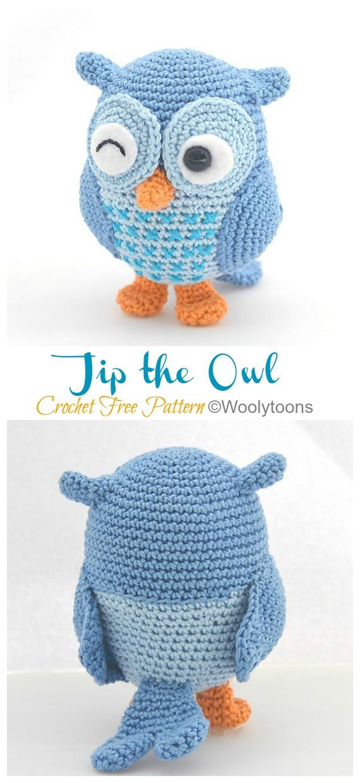 Owl Amigurumi - Free Crochet Pattern - StringyDingDing | 1240x570