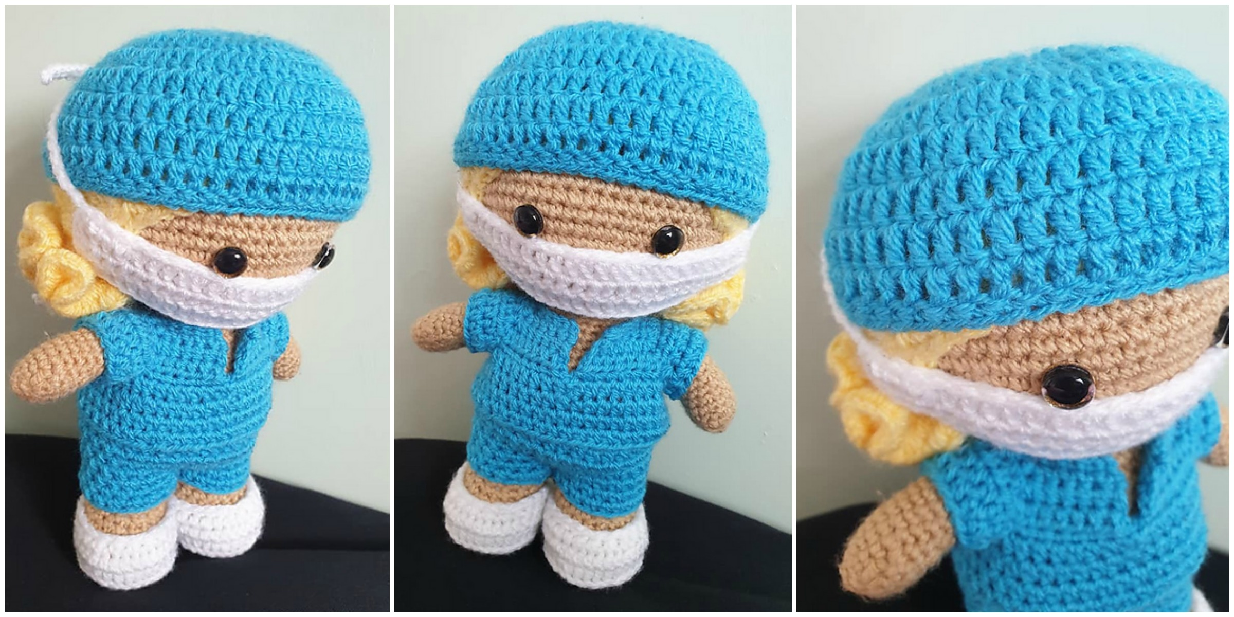 Make your own healthcare hero teddy bear with this free crochet ... | 1200x2400
