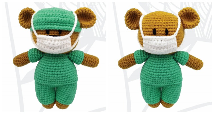 Free Heart pattern and My Rikki Bear | LillaBjörn's Crochet World | 400x750