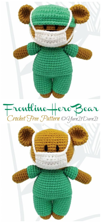 Crochet Mini Wedding Bears | 1240x570