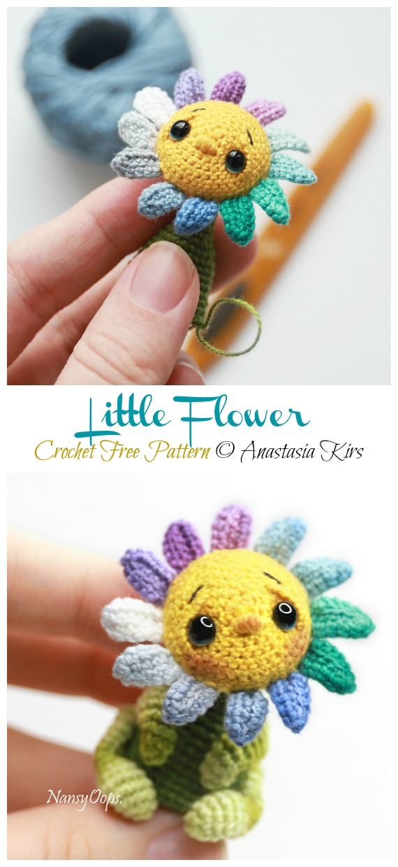 19 Crochet Amigurumi Plant Free Patterns For 2020 | 1240x570