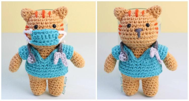 Nurse -Fish finger crafts | Patrones amigurumi, Animales de ... | 400x750
