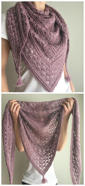 Felicita Spitzenschal häkeln kostenloses Muster - Frauen Spitze #Schal;  Kostenlose #Häkeln;  Muster