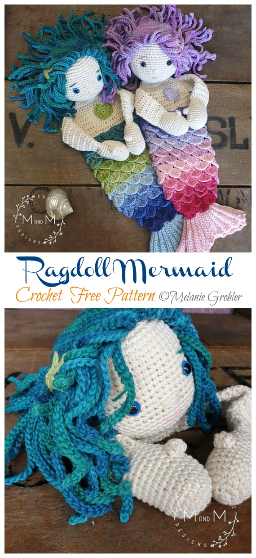 Crochet rag doll inspired cat | Amigurumi toys by lilleliis | 1240x570