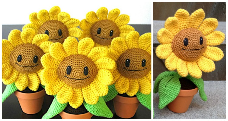 Sonny the Sunflower is a fun crocheted amigurumi doll that would ... | 400x750