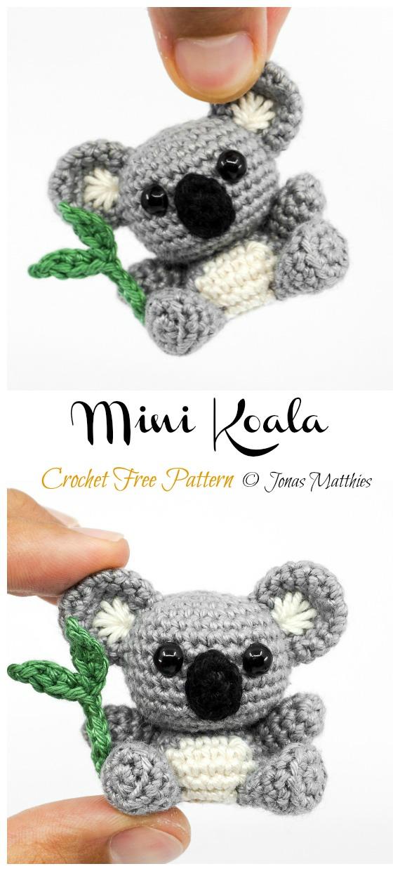 Free Crochet Amigurumi- Koala | Crochet patterns amigurumi, Owl ... | 1240x570