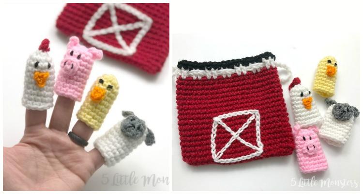 10 Free Finger Puppet Crochet Patterns | 400x750