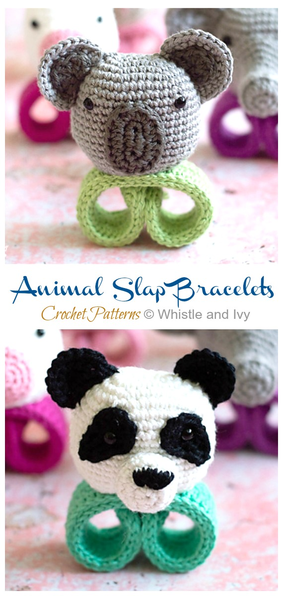 Animal Slap Bracelets Crochet Free Patterns Crochet