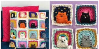 Free Crochet Cat Pillow Pattern | Beautiful Crochet Stuff | 160x324