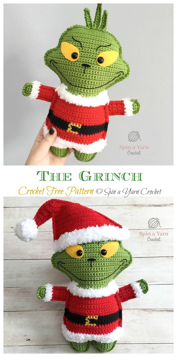 Amigurumi The Grinch kostenlose Häkelanleitungen - #Puppe;  #Amigurumi häkeln;  Kostenloses Muster