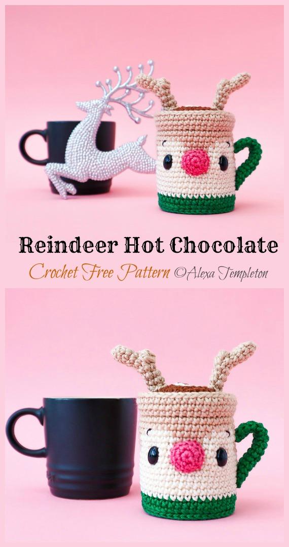 Rentier Hot Chocolate Crochet Free Pattern - Crochet #Food;  Kostenlose Amigurumi-Muster