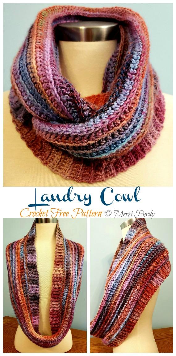 Landry Cowl Crochet Free Pattern - Frauen #Cowl;  Kostenlose #Häkeln;  Muster