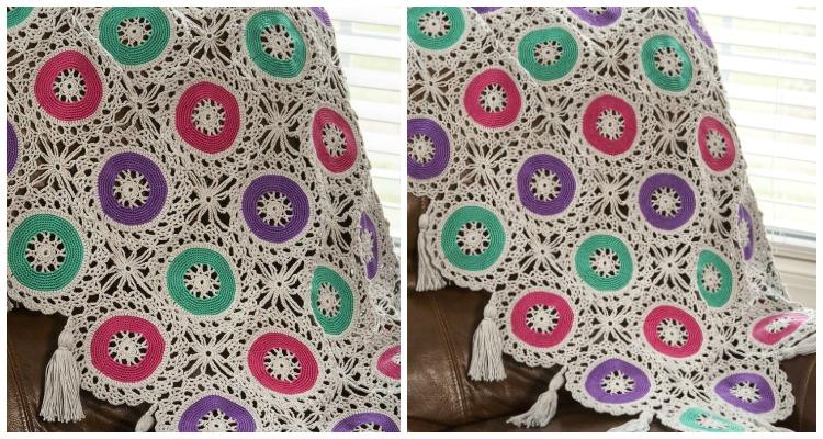 Bold Circles Throw Crochet Free Pattern - Crochet & Knitting