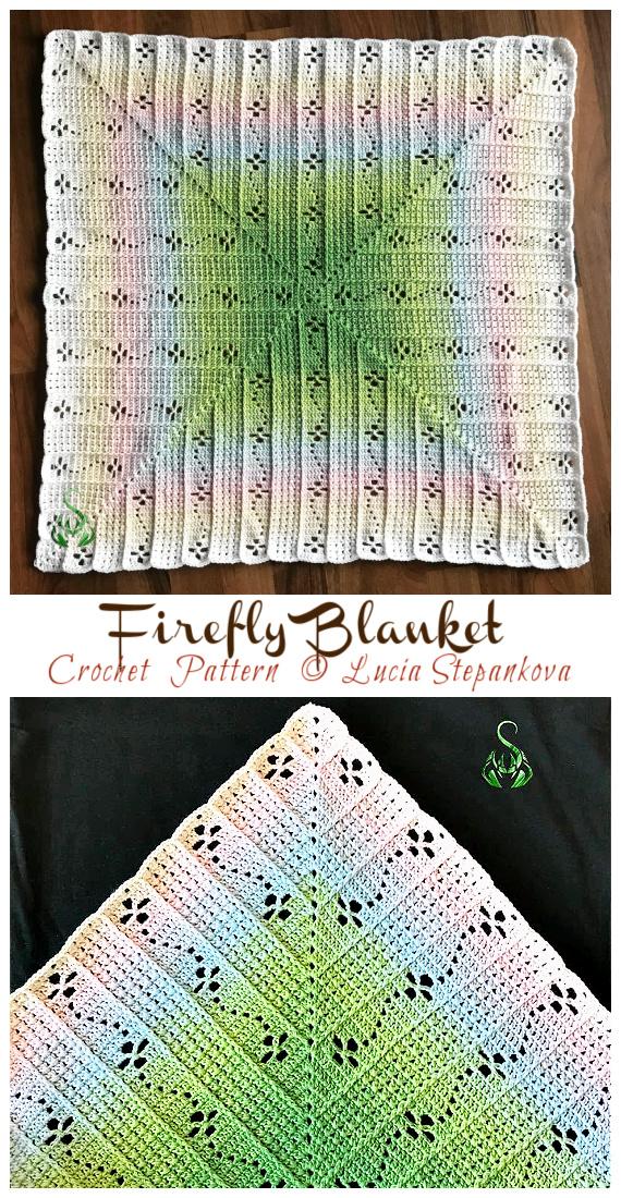Motif de crochet de couverture Firefly - #Granny;  #Couverture carrée;  #Crochet;  Motifs