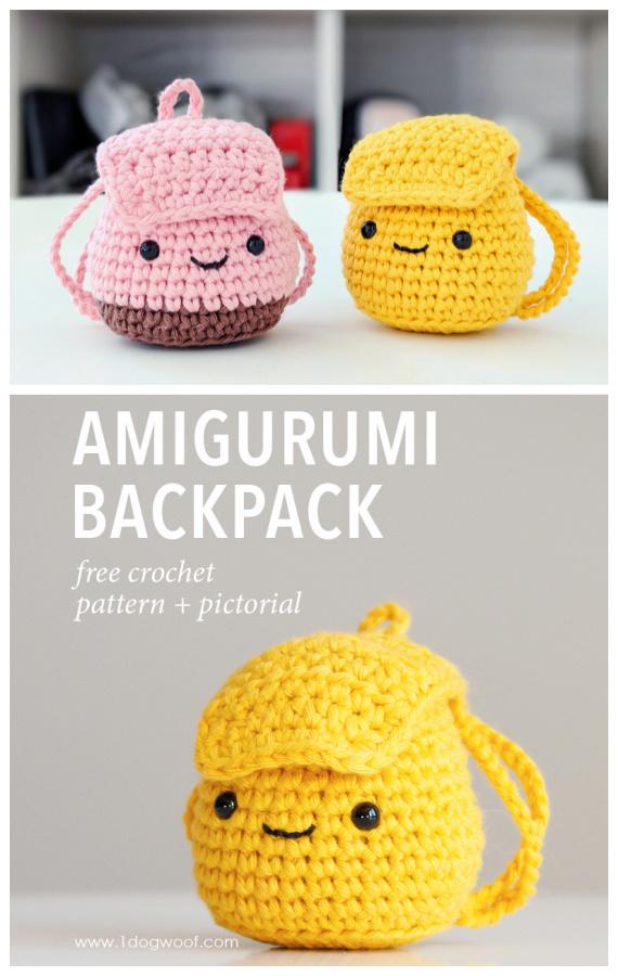 Padrão sem crochê de mochila Amigurumi - #Amigurumi Mini brinquedos grátis # Padrões de crochê