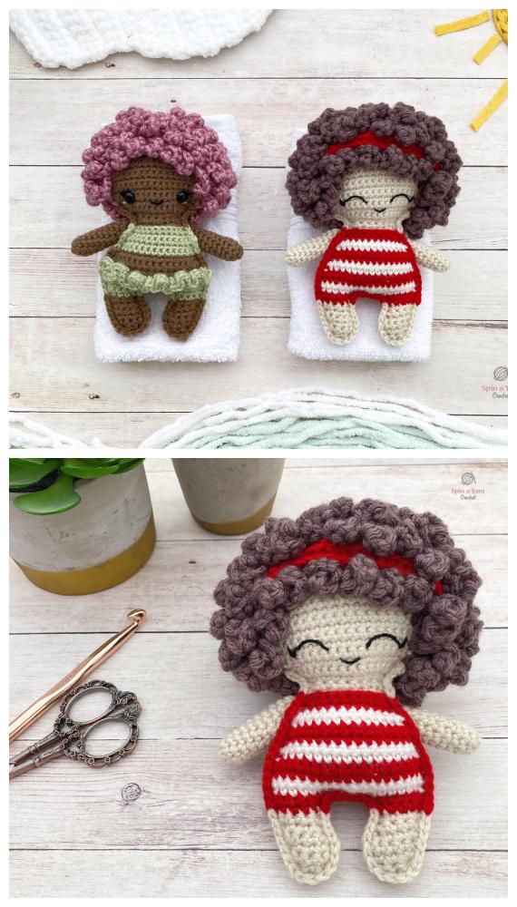 Amigurumi Beach Bum Doll kostenlose Häkelanleitung – #Puppen häkeln;  #Amigurumi;  Kostenlose Muster