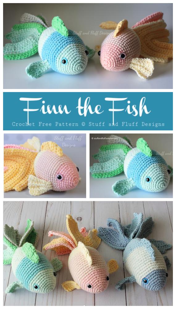 Amigurumi Finn der Fisch Kostenlose Häkelanleitung – Häkeln #SeaLife;  Spielzeug #Amigurumi;  Kostenlose Muster