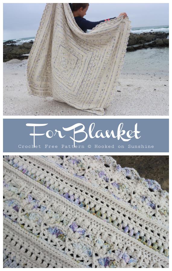 Für Decke häkeln kostenloses Muster - #Granny;  Quadratische #Decke;  #Häkeln;  Muster